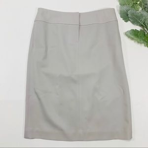 J. Crew | Light Gray Pencil Skirt Pleating in Back